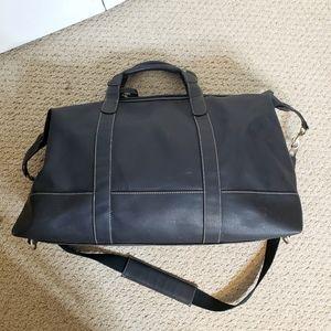 BARRINGTON black Captains travel leather bag